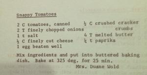 Snappy Tomato Recipe