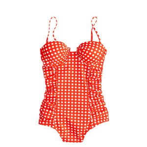 J. Crew Grid Dot Swimsuit