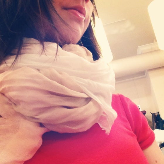 silk and cashmere scarf from Mes Amies