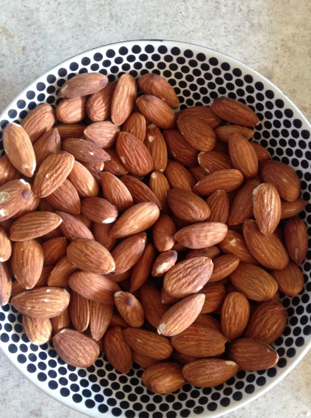 oven roasted almonds
