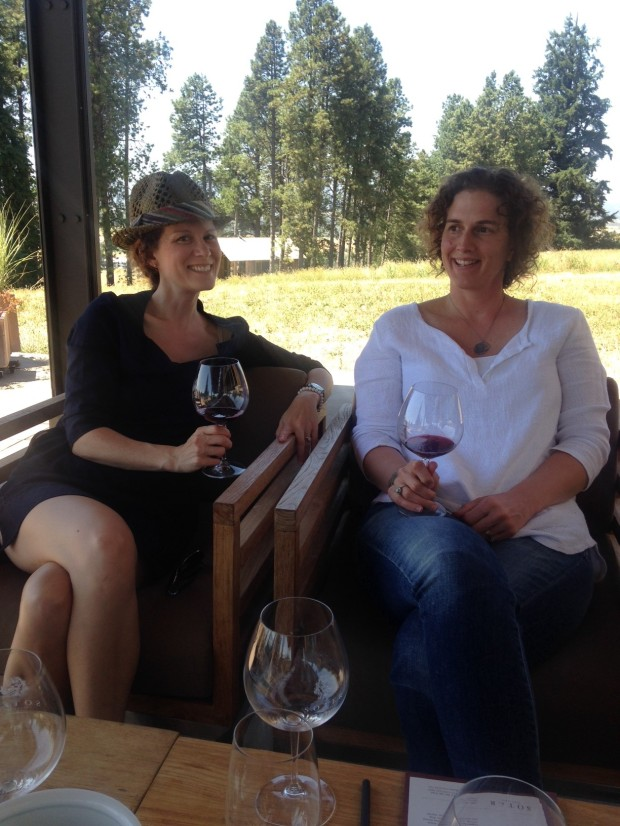 hanging out in wine country with these ladies