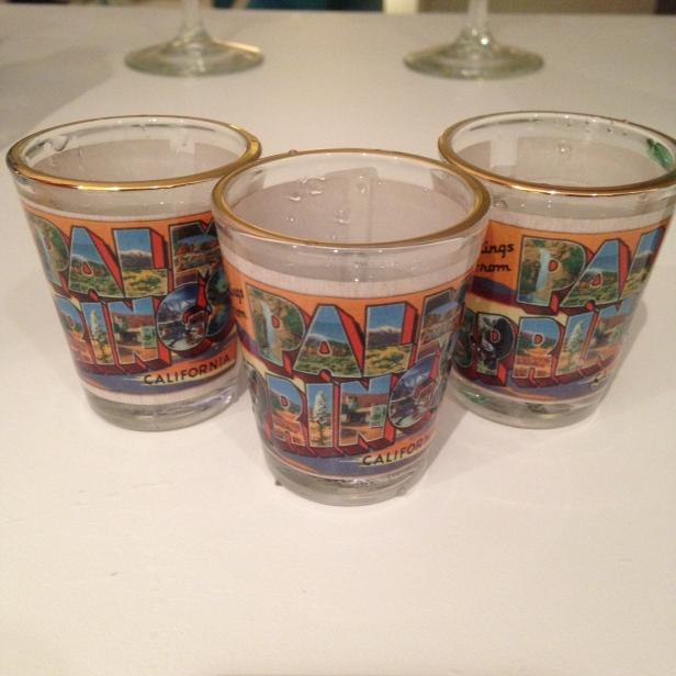 palm springs shot glasses