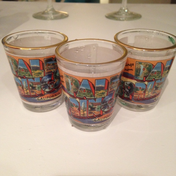palm springs shot glasses