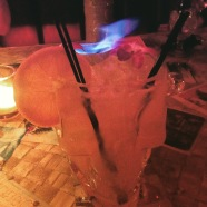 flaming skull drink